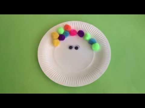 Five Super Cute Paper Plate Crafts Youtube
