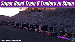 "[""#AmericanTruckSimulator"", ""#TOP MODS"", ""#BEAST RACING ats"", ""? American Truck Simulator | Super Road Train 8 Trailers in Chain [ATS 1.42/1.41] 4k"", ""#super road train ats"", ""#ats 8 trailers"", ""american truck super road train"", ""american truck trailers"", ""Super Road Train"", ""8 Trailers in Chain"", ""trailers"", ""train"", ""road"", ""super"", ""chain"", ""ats 1.42"", ""ats mods"", ""ATS"", ""american truck"", ""Kenworth W900 TEXAS"", ""zeemods New Cat C-15 6NZ"", ""BEAST RACING"", ""Squirrel"", ""engine pack ats"", ""Kriechbaum"", ""Full Tilled Gaming"", ""ats peterbilt""]"