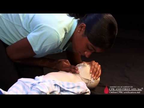 Infant CPR Training Video - How To Give Mouth-to-Mouth Breaths To An Infant