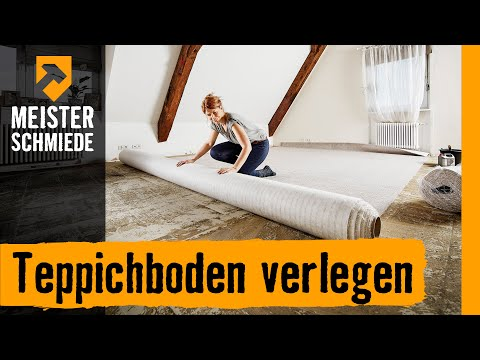 teppichboden verlegen hornbach meisterschmiede youtube. Black Bedroom Furniture Sets. Home Design Ideas
