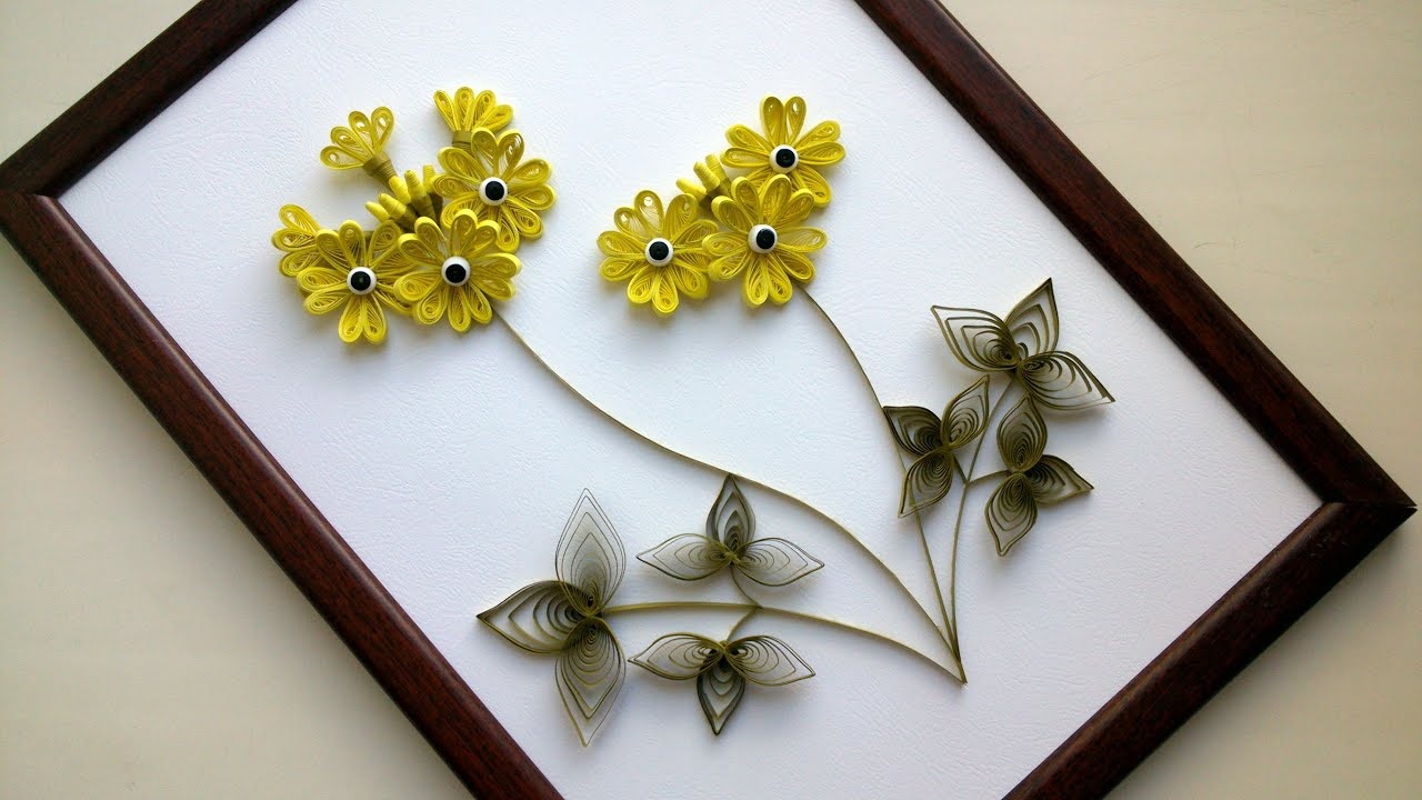 Diy home decor with paper quilling art diy room decor Home decor crafts with paper