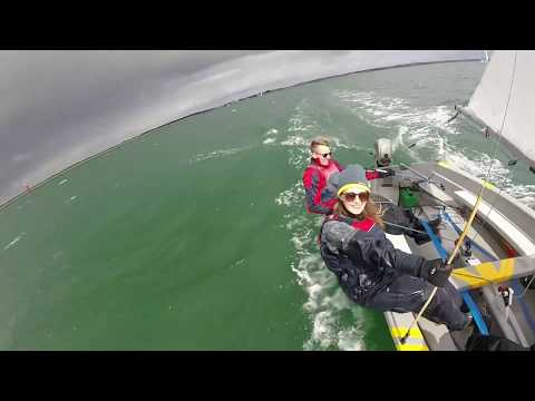 Wayfarer sailing from Poole Harbour to Old Harry Rock&39;s