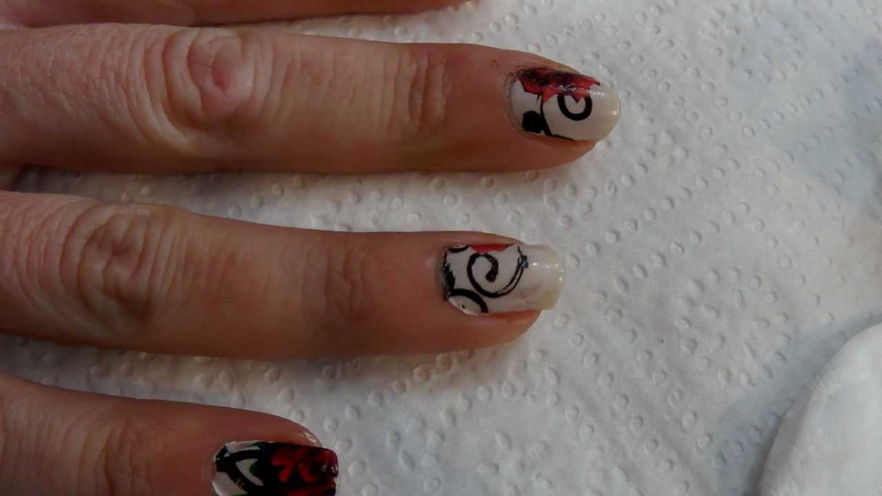Roman Nails Drawingtattoo: Tutorial Uñas Decoradas (Nail Art) En Vídeo Nº33 Tatuajes