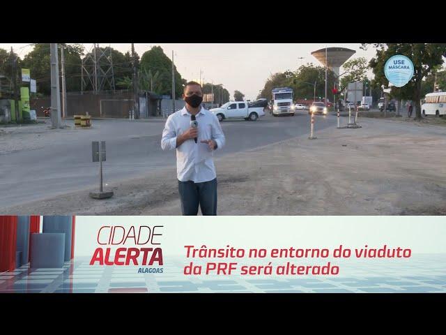Trânsito no entorno do viaduto da PRF será alterado a partir de quinta-feira