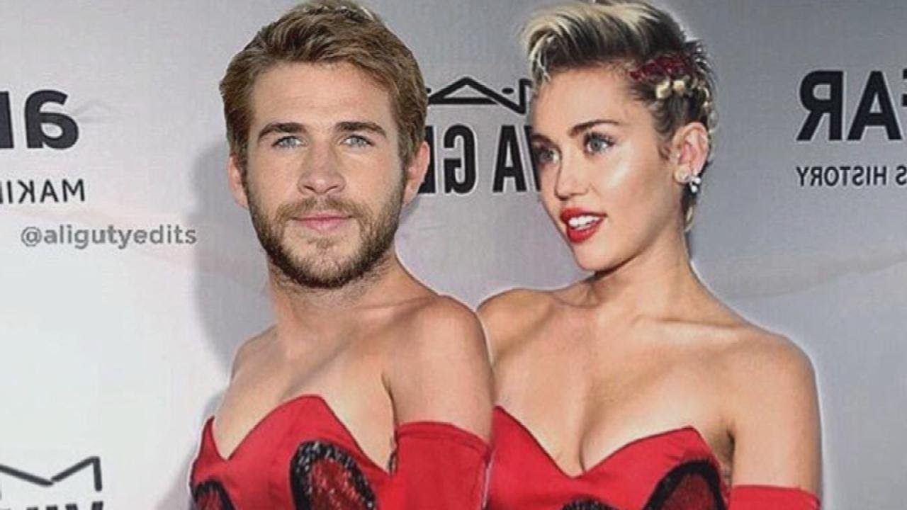 miley cyrus photoshops liam hemsworth in a dress for valentine u0027s