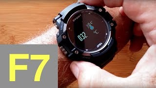 No.1 F7 Rugged IP67 Waterproof Sports GPS Smartwatch: Unboxing & Review