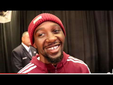 TERENCE CRAWFORD DARES THURMAN TO STEP IN THE RING AND LAUGHS AT HIM