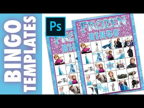 HOW TO MAKE BINGO CARDS TEMPLATE PRINTABLES IN PHOTOSHOP