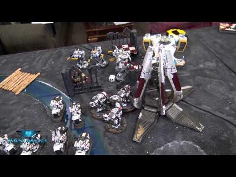 Warhammer 40k Batrep, TBMC, 1500pts Tau vs White Scars, Battle Report