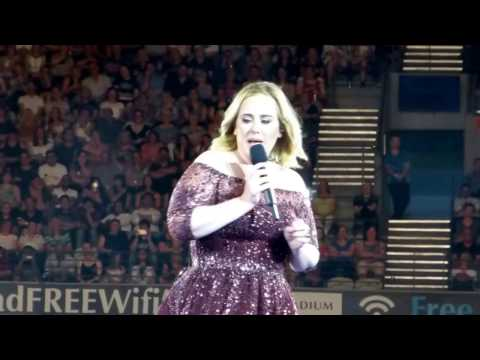 ADELE 18 March 2017 Melbourne Australia Chatting to the audience