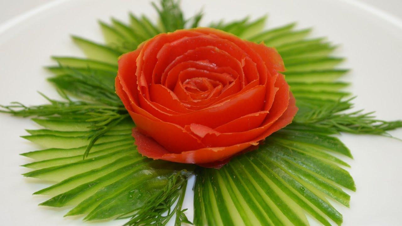 Роза из помидора - пошаговый рецепт с фото на Готовим дома