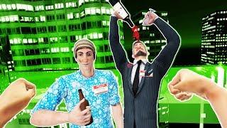4 Drunk Guys Fighting in VR! - Drunkn Bar Fight Gameplay - VR