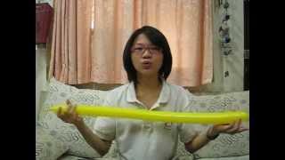 aCARD造型氣球教學 熊熊棒