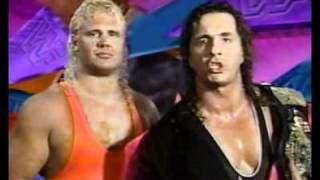 Promos for Mr. Perfect & Bret Hart vs. Razor Ramon & Lex Luger tag match (WWF 1993)