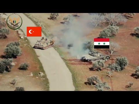 مشاهد مثيرة.. مدرعة تركية تطارد دبابة روسية في ريف إدلب السورية !!