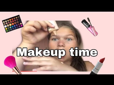 Doing my makeup!🤦🏼‍♀️💓