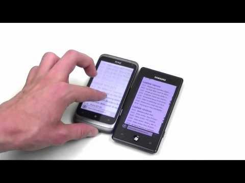 English: HTC Radar vs Samsung Omnia 7