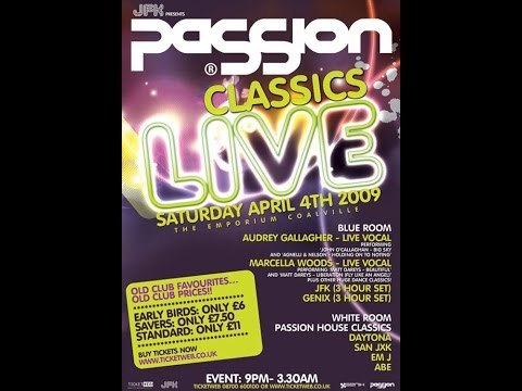 Passion classic live April 4th 2009. JFK, Marcella Woods & Audrey Gallagher.