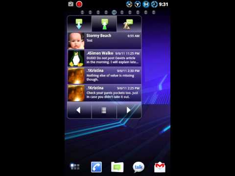 SUI SMS Widget quick look