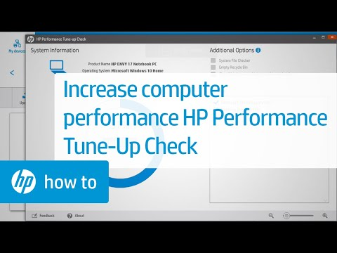 How to Increase System Performance Using HP Performance Tune-up