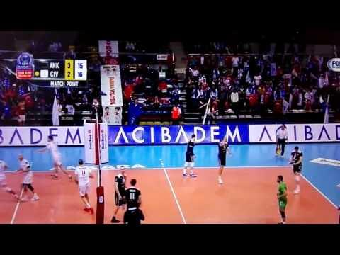L'ultimo punto Lube ad Ankara che vale la F4 di Champions