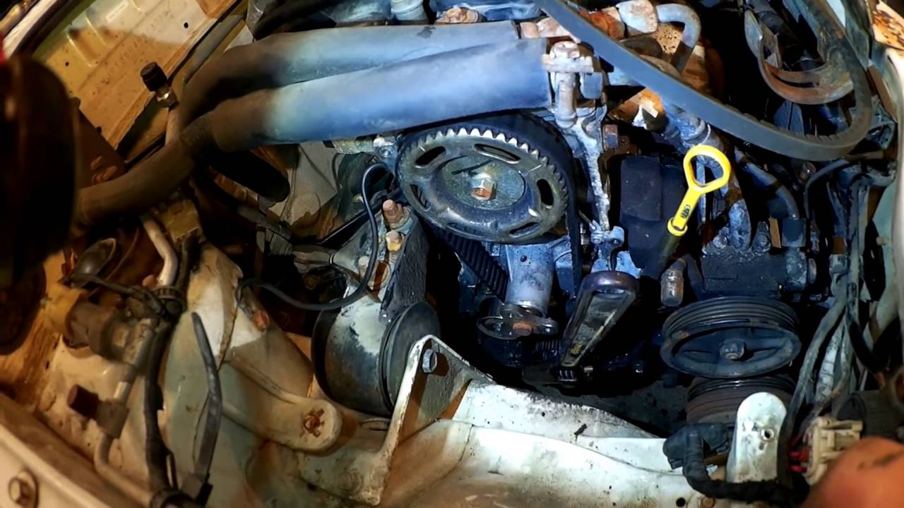 small resolution of festiva water pump and timing belt