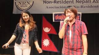Rajesh payal Rai Live concert  in Barcelona-2015 / Sagar sari chokho maya