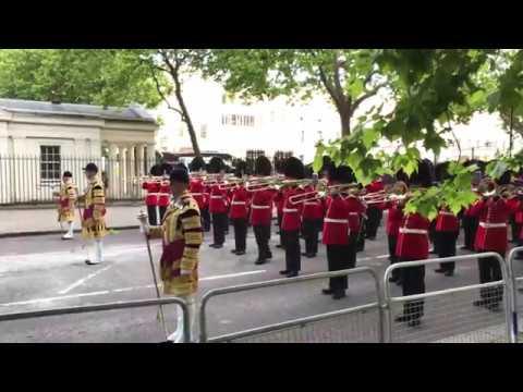 Massed Bands March Down the Birdcage Walk - Beating Retreat 2017 - Arnhem