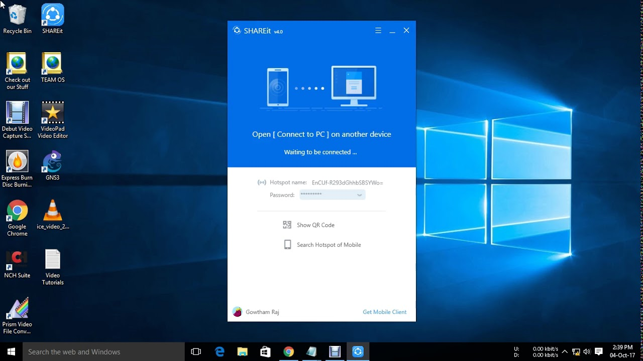 How to connect Share-It between Windows PC and Mobile
