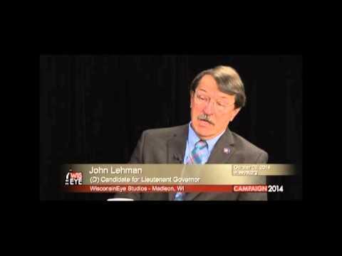 John Lehman (D) for Lieutenant Governor