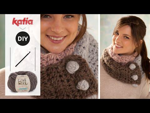 Love Wool DIY: Cuello tricolor · Tricolour neck warmer - YouTube