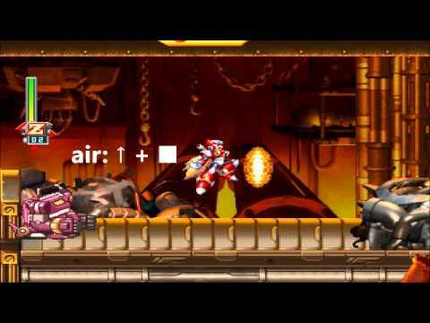Megaman X6 - All ZERO Skills. (Todos los poderes)