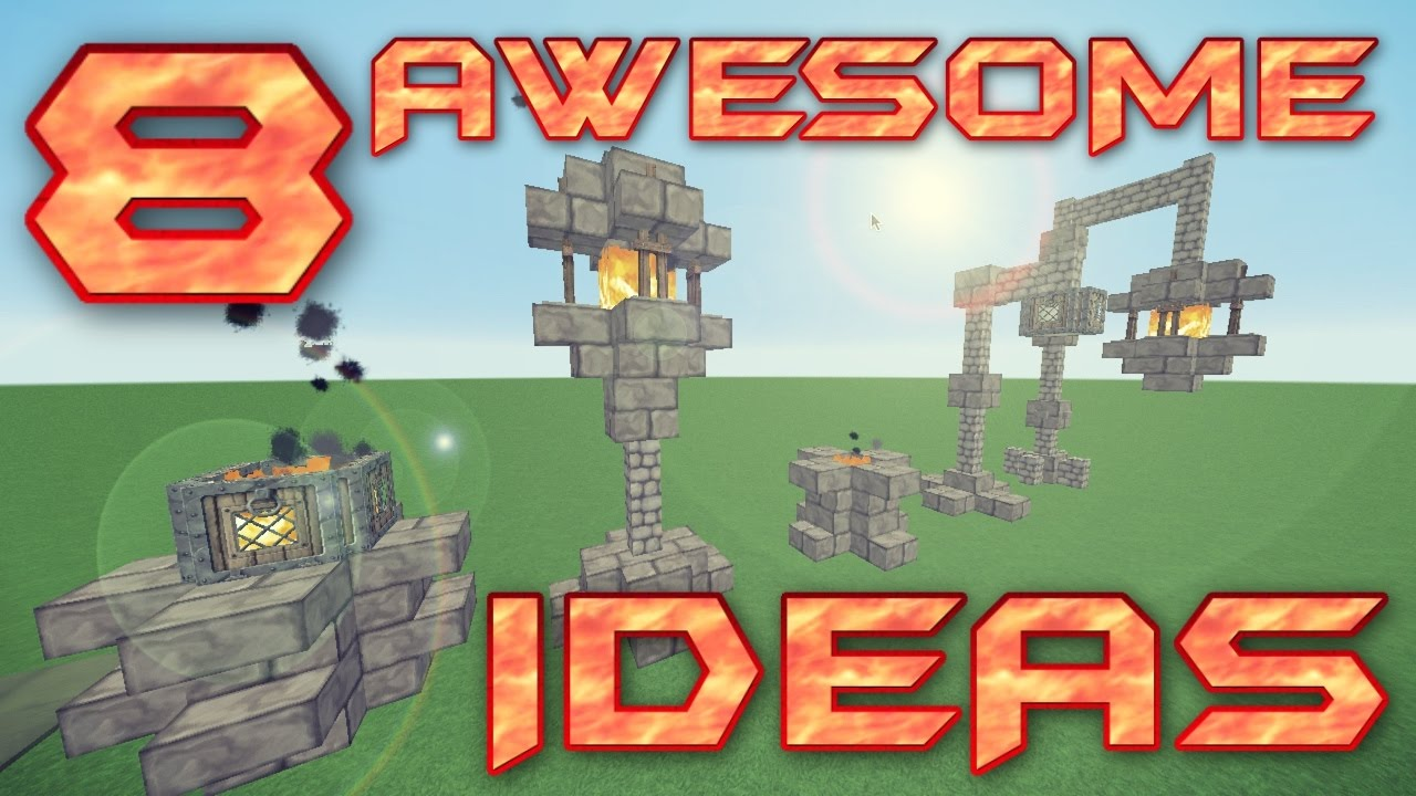 8 AWESOME MINECRAFT LIGHTING IDEAS | Minecraft Lighting Tutorial | How To  Build In Minecraft