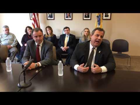 Gov. Christie speaking about drug addiction