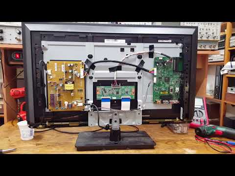 Toshiba 32L2333D Full-HD TV Repair (SMD memory chip) - YouTube
