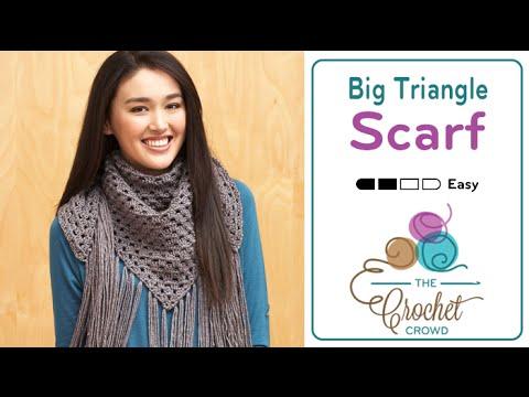 Big Fringe Triangle Scarf + Tutorial   The Crochet Crowd