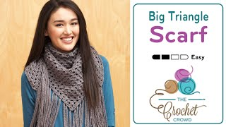 Crochet Big Fringe Triangle Scarf (Child & Adult)