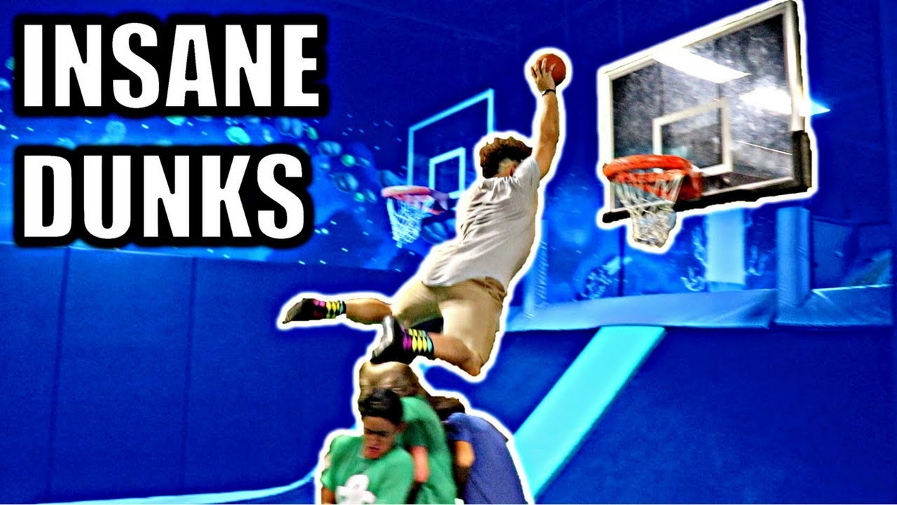 World Biggest In The Dunk: INSANE DUNK CONTEST IN WORLD'S LARGEST TRAMPOLINE PARK