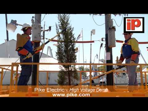 Pike Electric Live Line Demonstration at iP Safety Conference and Expo