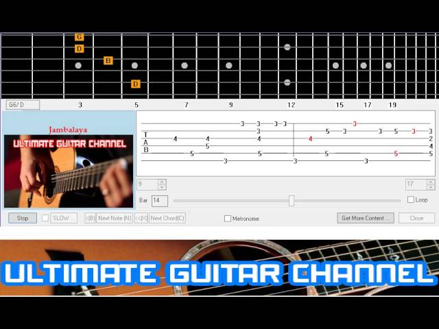 Guitar Solo Tab Jambalaya Hank Williams Chords Chordify