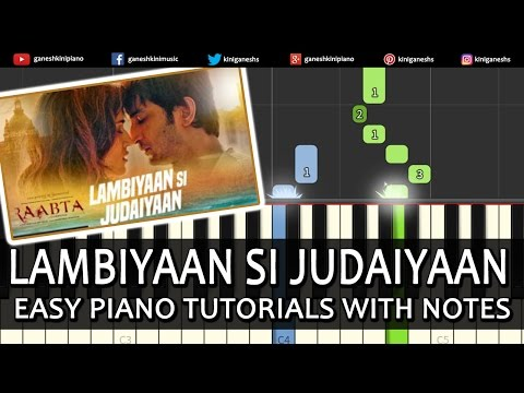 Thumbnail: Lambiyaan Si Judaiyaan Raabata|Hindi Song|Arijit Singh| Piano Tutorials Chords Instrumental Popluar