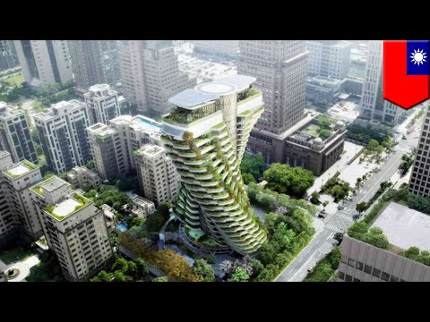 Carbon-eating skyscraper Tao Zhu Yin Yuan Tower to be completed in September in Taipei - TomoNews