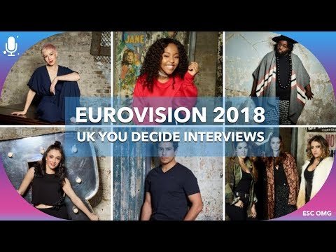 Eurovision 2018 UK: You Decide! Goldstone, Asanda, Raya, Liam Tamne, Jaz Ellington, SuRie Interview
