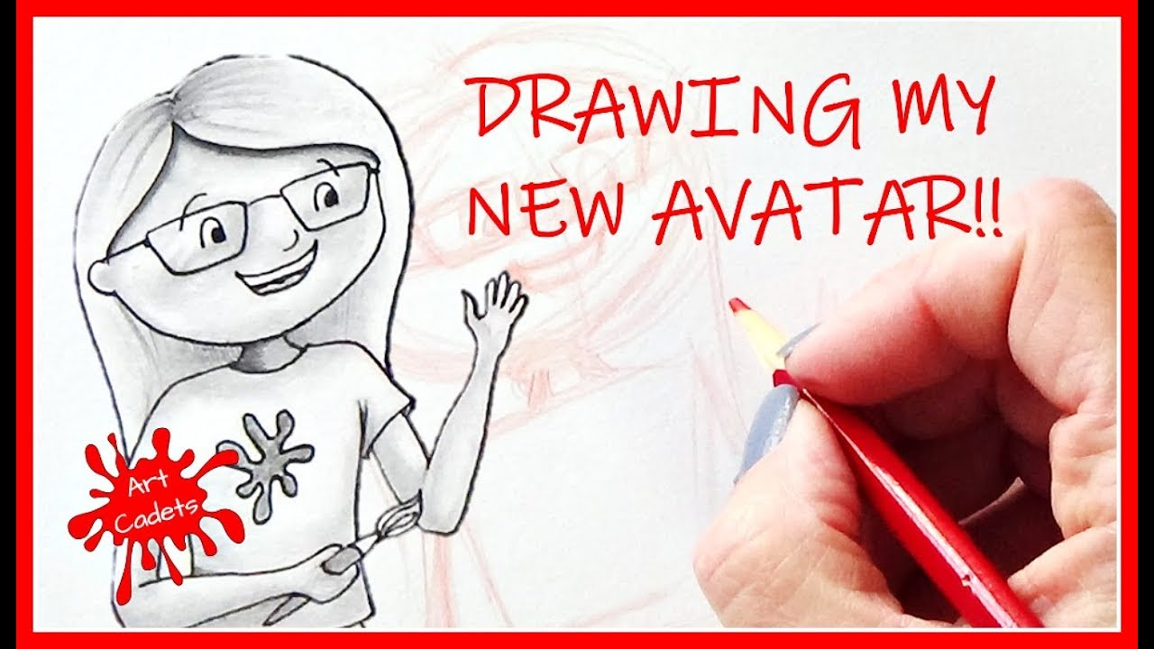 Drawing My New Avatar How To Draw Yourself As A Cartoon Easy Tutorial For Beginners 2018 Youtube