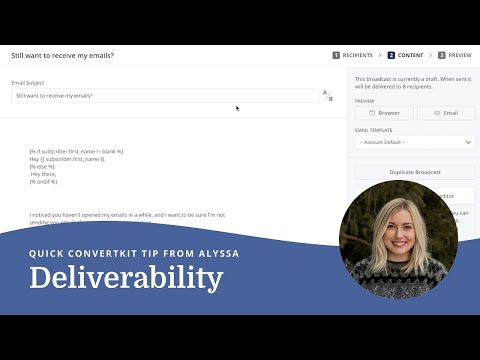 Improving deliverability by maintaining a clean email list