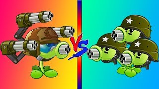 Plants vs. Zombies 2 GATLING PEA vs THREEPEATER!
