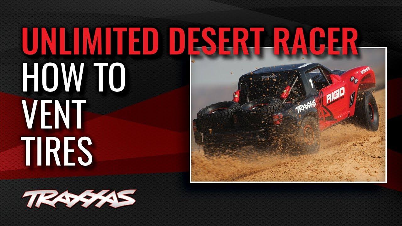 How to Vent Desert Racer Tires | Traxxas