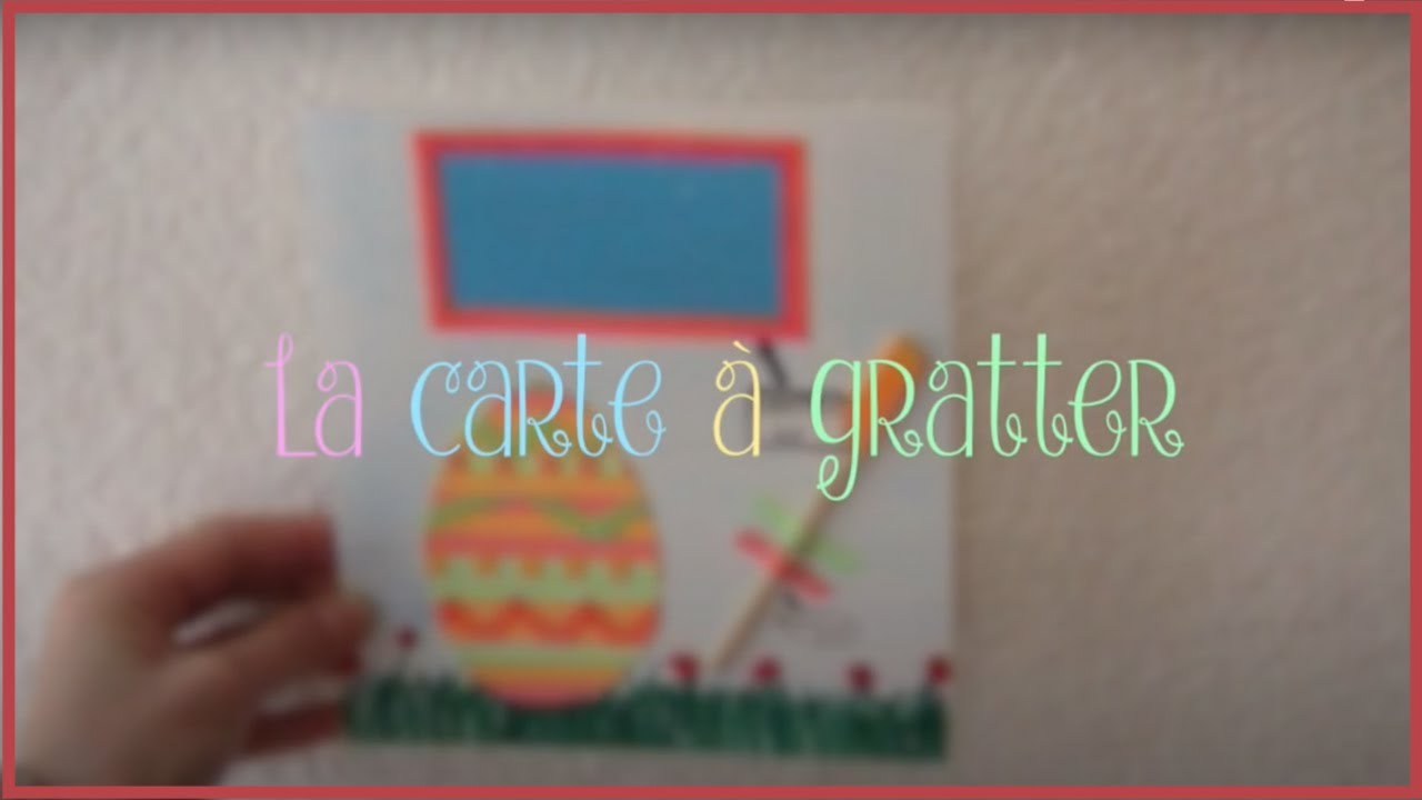 Diy La Carte à Gratter Faite Maison Youtube