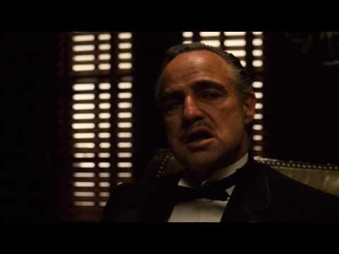 Крестный отец - знаменитая открывающая сцена фильма