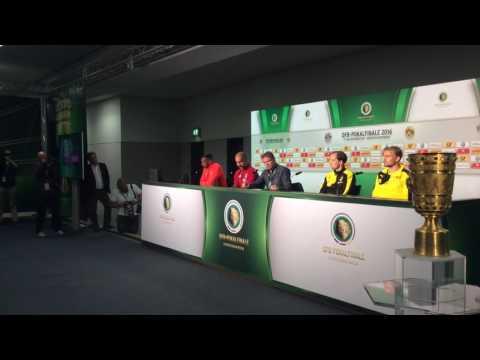 DFB Pokal Berlin 2016 Presse Konferenz